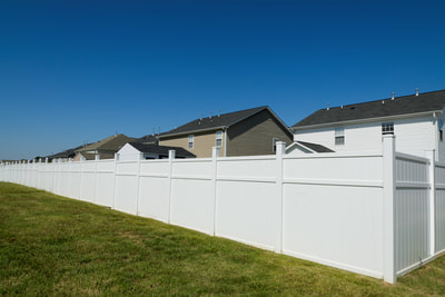 vinyl pvc privacy Fence Installation Company Contractor Mooresville Denver NC Lake Norman
