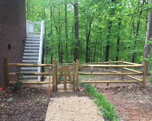 Picture split rail fence installation company Sherrills Ford nc lake norman